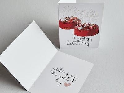 B&P Greetings Cards - Explosive Raspberry - Happy Birthday!