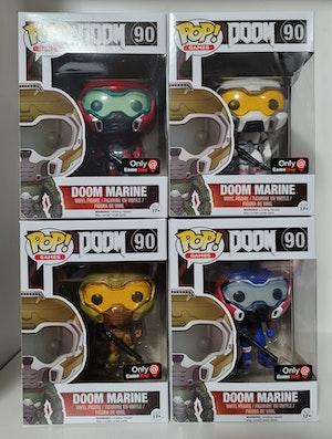 Doom Marine Set of 4 - Gamestop Exclusive Pop Vinyls