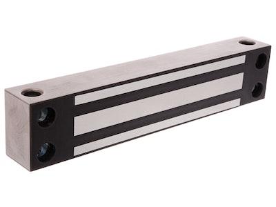 "Lox Locking LOX EM4700 slimline 380kg single electromechanical weather resistant magnetic mag lock ""Monitored"" SS"