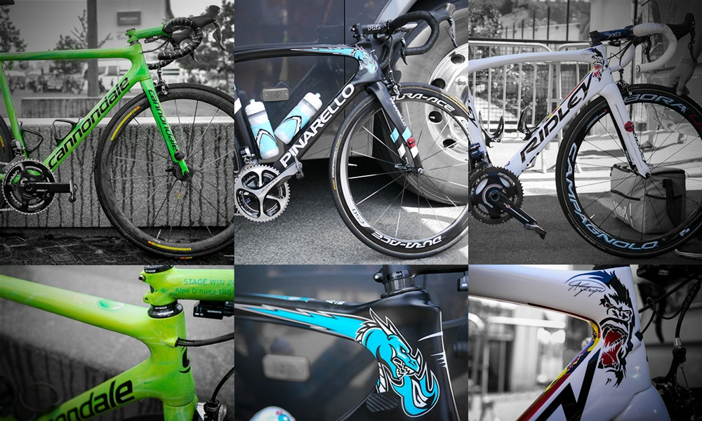 Coole Custom Bikes bei der Tour de France