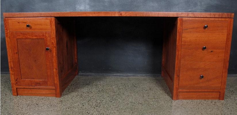 Christian cole furniture redgum timber desk custom desk for Unique desks for sale