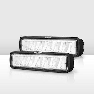 Pair 6 inch CREE FLOOD LED Work Light Bar Driving Lights 4WD Reverse