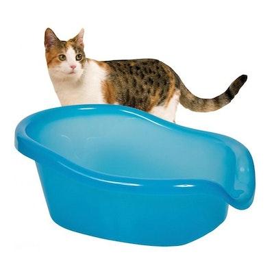 SmartCat Ultimate Cat Litter Box Transparent Blue 64 x 47 x 27cm