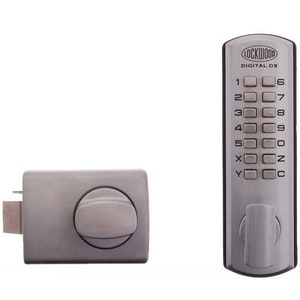 Lockwood 002-1KDXSC Mechanical Digital Deadlatch in Satin Chrome Pearl Finish