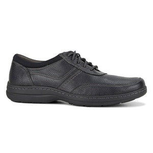 Boutique Medical Hush Puppies Men's Elkhound MT Oxford Leather Shoes Casual Bounce 2.0 - Black