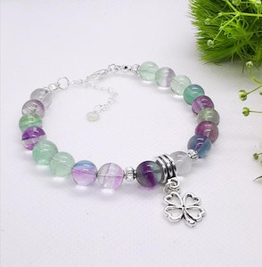 LinqGlo Collections Fluorite Crystal Bracelet