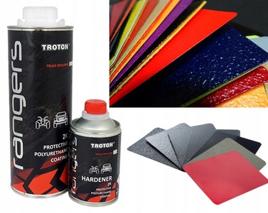Rangers 2K Tintable Bed Liner Tough Protective Coating Kit - 4 x 840ml Cans + Free UBS Gun