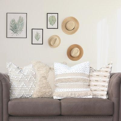 SATTVA WORLD Modern Plush Boho Set of 4 Cushion Covers
