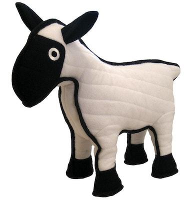 Tuffy Toys Tuffy Barnyard Series Sherman The Sheep Dog Toy White/Black