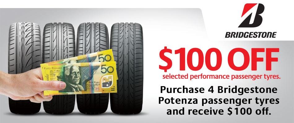Bridgestone Cash Back promotion