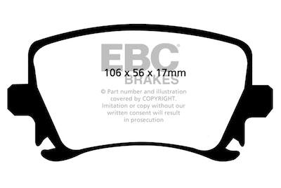 EBC REDSTUFF REAR BRAKE PADS for for Audi Skoda Volkswagen Various models - DP31518