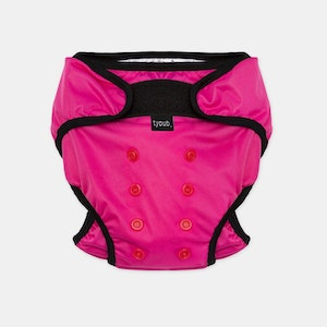 Swim Nappy + Wet Bag - Pink