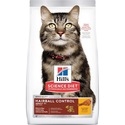 Hills Hill's Science Diet Hairball Control Senior Chicken Dry Cat Food