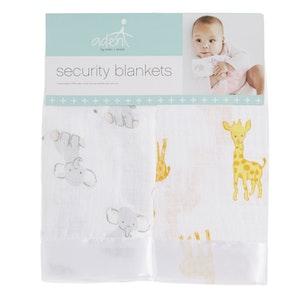 aden safari babes issie muslin security blankets 2pack