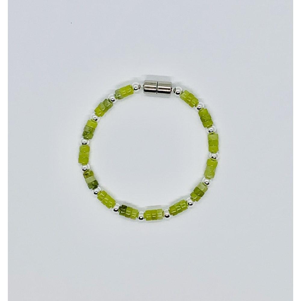 Fayre Maiden Jade And Sterling Silver Bracelet
