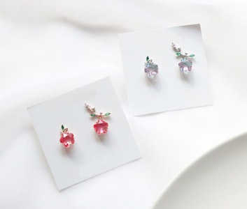 Apple Earrings (Handmade in Korea)