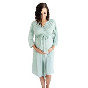 Marli & Me™ Bamboo Jersey Mama & Maternity Robe | Balmy Sage