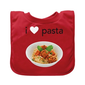 green sprouts Pull-over Food bib (single)-Red Pasta-9/18mo