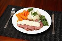 Corned Beef meal  complete with vegetables