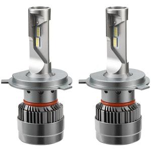 LIGHTFOX LIGHTFOX Pair H4 9003 LED Headlight KIT 60W 18000LM Hi/Low Beam Replace Halogen Xenon