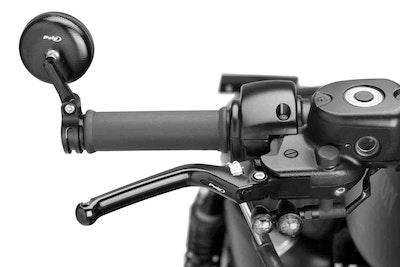 Puig Heritage Brake Lever To Suit Various Models (Black Lever, Silver Adjuster)