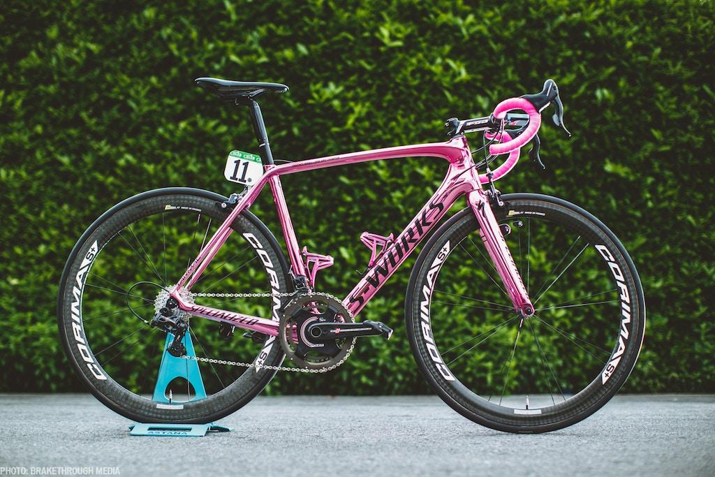 Vincenzo Nibali's Giro Pink Tarmac