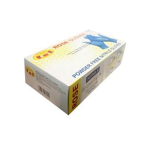Disposable Powder-Free Nitrile Gloves - Blue (100 Pack) - Size Medium