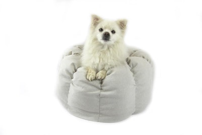 T&S Round Pet Bed - Luxy Linen