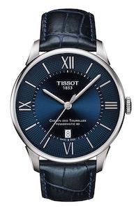 Tissot Chemin des Tourelles Powermatic 80 - Blue with Leather Strap