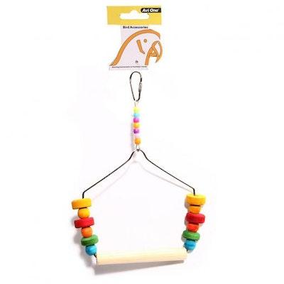Avi One Bird Toy Coloured Block & Swing