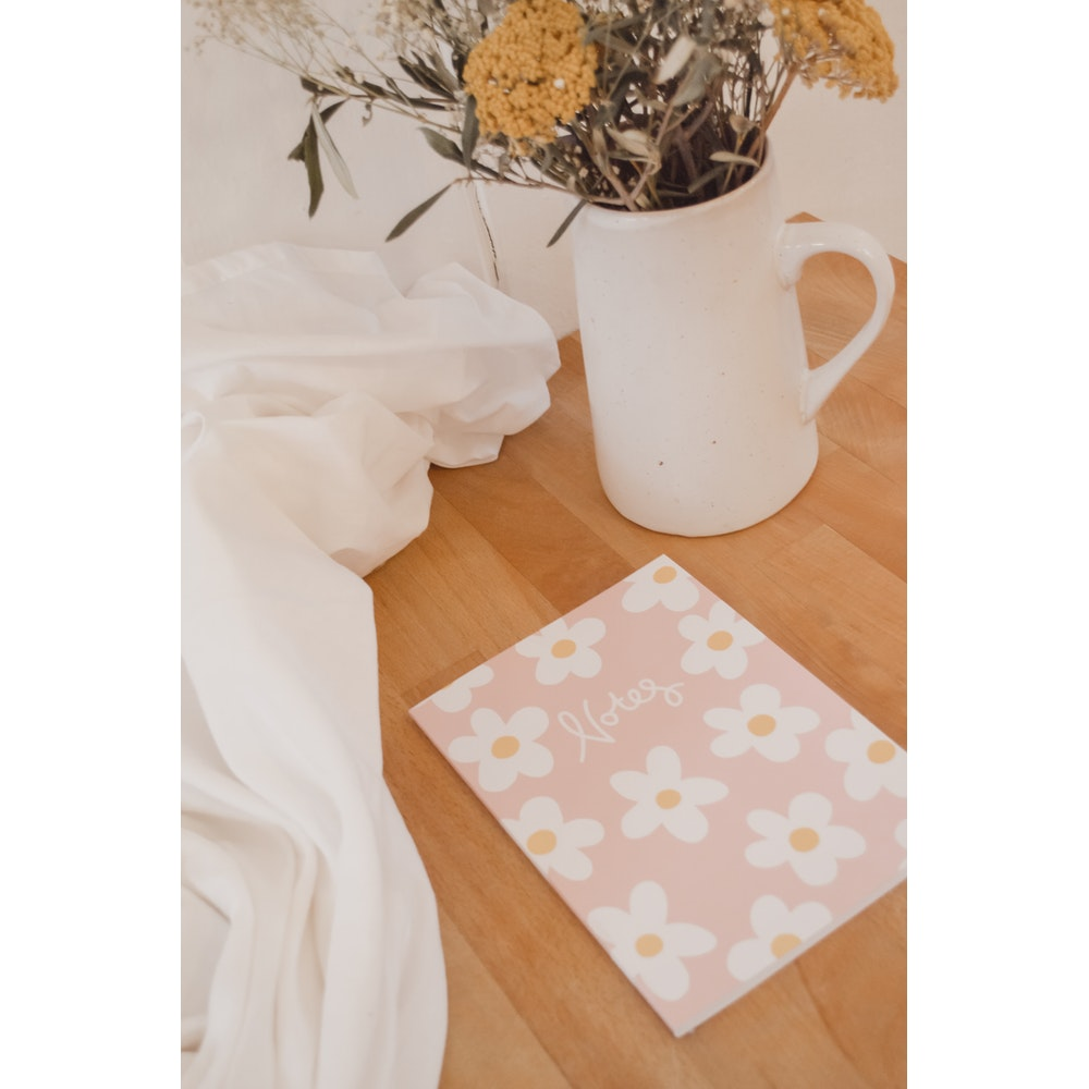 Brew Norfolk A5 Notebook With Daisy Design