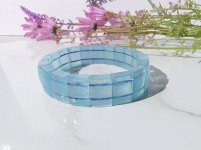 LinqGlo Collections Aquamarine Crystal Bracelet