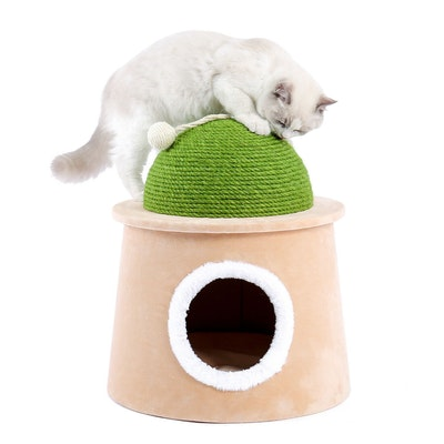 House of Pets Delight Igloo Playhouse Cat Condo Scratcher