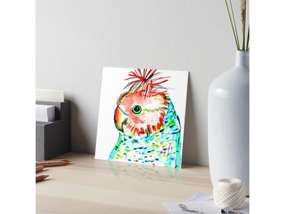 Iconic Colours Art board Print Medium Size- Outstanding Gang Gang Cockatoo