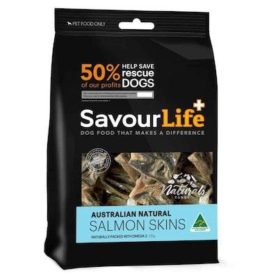 Savourlife Australian Natural Salmon Skins Dog Treats 125G