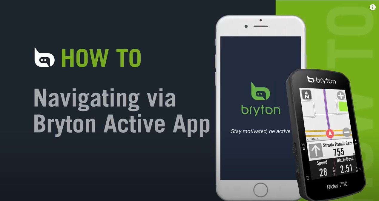 Bryton - Rider 750 | Navigating via Bryton Active app