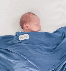 Bebe Luxe Moonlight Blue Bamboo Jersey Swaddle