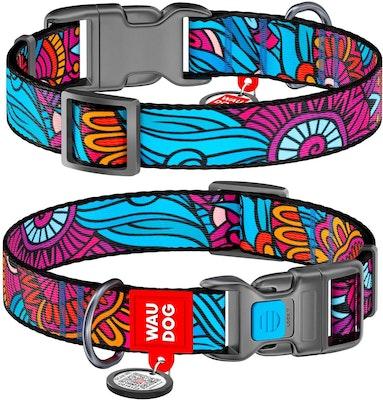 WauDog by the Collar Company WauDog Nylon Dog Collar -Summer - Sizes: X-Small, Small, Medium, Large
