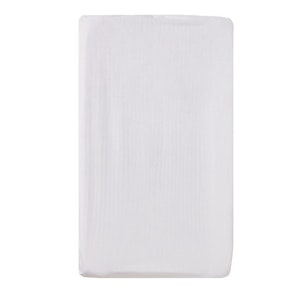 Bassinet Fitted Sheet (LARGE SIZE - 91x54x20cm - JERSEY): WHITE