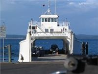 4WD Ferry that leaves from river mouth south of Hervey Bay