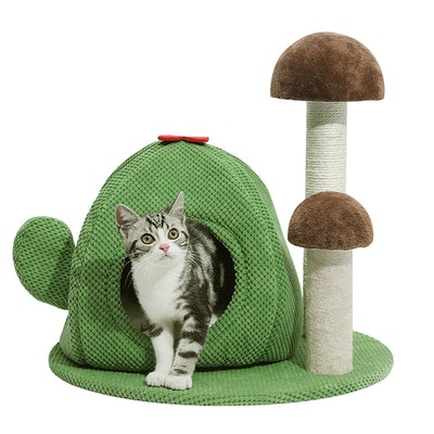House of Pets Delight Mushie Cat Tree Tower Kitty Bed