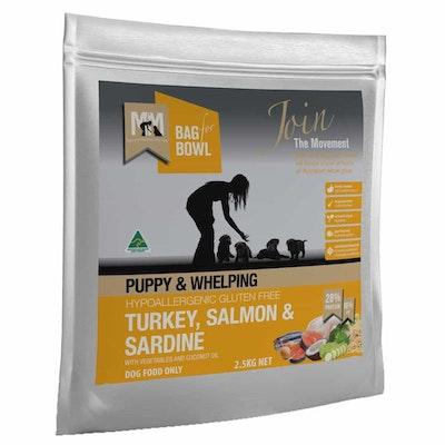 MEALS FOR MUTTS Puppy Turkey, Salmon & Sardine Dry Dog Food