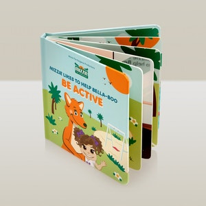 Mizzie the Kangaroo 'Be Active' Interactive Touch and Feel Mizzie Baby Board Book