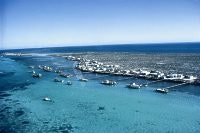 Abrolhos Is. from the air, courtesy Tourism WA