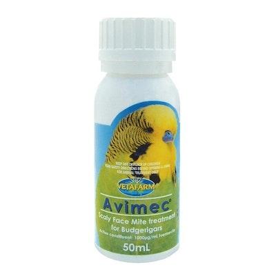 Vetafarm Avimec Budgie Scaly Face Mite Treatment Bird 50ml
