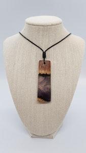 Yindi Artz Purple resin and yellow box pendant (small)