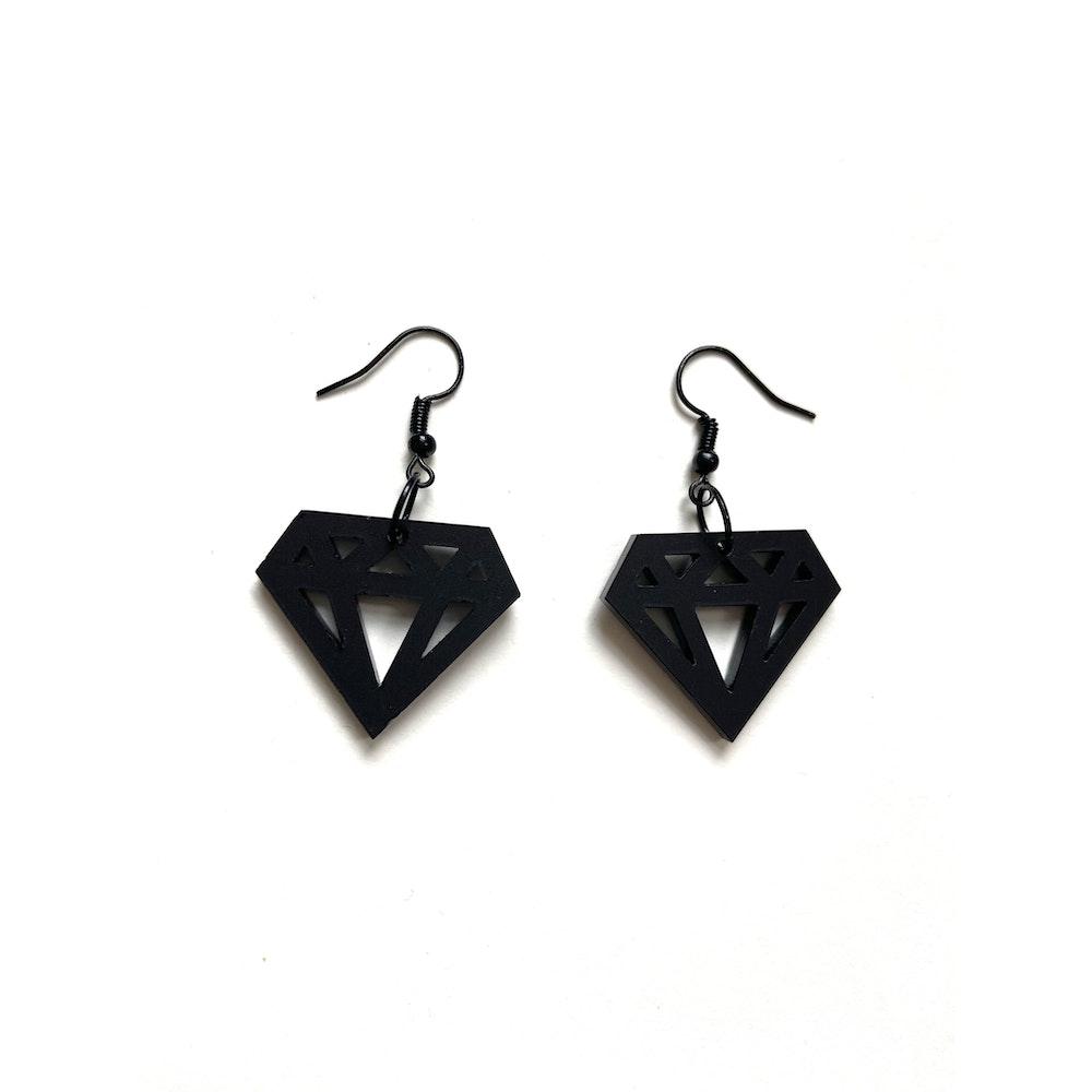 One of a Kind Club Black Diamond Earrings