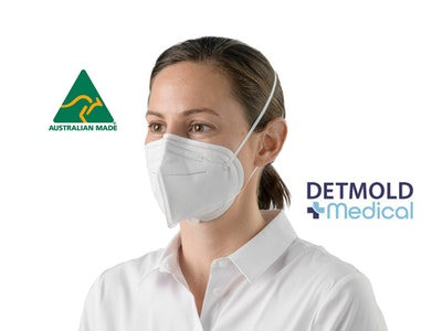 Detmold Medical Australian Made D95 P2 Respirator (various sizes) - Carton of 600