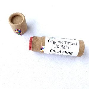 Catherine B Coral Fling - Tinted Organic Lip Balm