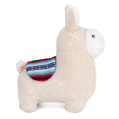 Zippy Paws Liam The Llama Plush Dog Squeaker Toy 22.8 x 25.5cm